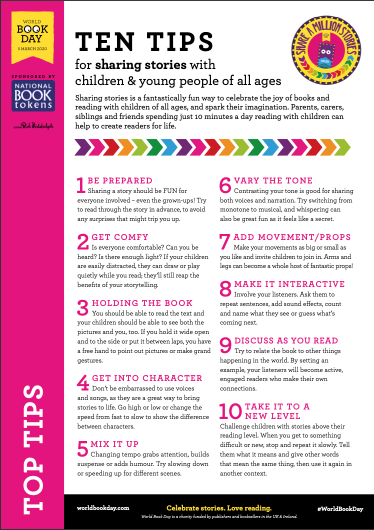 ten tips of sharing stories - all ages